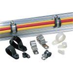 HellermannTyton 211-10040 ALU4-ALU-NA-C1 Aluminium P-Clip 6.4mm