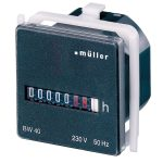 Muller BW4018 Operating Hours Counter Panel Mount 45x45mm 7 Digit …