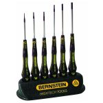 Bernstein 4-610 ESD Slotted Screwdriver Set In Table Support – 6 Piece