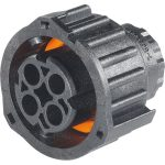 TE Connectivity 1-967325-1 AMP Round Plug Connector DIN 72585 4 Pin