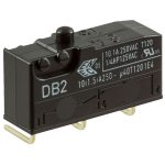 Cherry DB2C-D3AA Microswitch SPDT 10A 250V AC, Button, Left-hand PCB