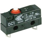 Cherry DC1B-A1AA Microswitch SPST-NC 6A 250V AC, Button, Solder, IP67