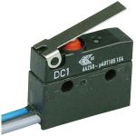 Cherry DC1C-C3LB Microswitch SPDT 6A 250V AC, Short Lever, Leads, IP67