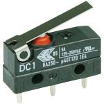 Cherry DC1C-H1LB Microswitch SPDT 6A 250V AC, Short Lever, PCB, IP67