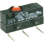Cherry DC1C-K8AA Microswitch SPDT 6A 250V AC, Button, Right-hand P…