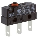 Cherry DC2C-L1AA Microswitch SPDT 10A 250V AC, Button, Q.C., IP67