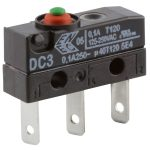 Cherry DC3C-L1AA Microswitch SPDT 0.1A 250V AC, Button, Q.C., IP67