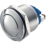 Zip Switch 19mm Vandal Resistant 36V DC 2A Domed Stainless Steel S…