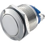 Zip Switch 19mm Vandal Resistant 36V DC 2A Flat Nickel Plated Scre…