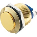 Zip Switch 19mm Vandal Resistant 36V DC 2A High Gold Steel Screw T…