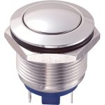 Zip Switch 19mm Vandal Resistant 36V DC 2A Domed Nickel Plated Pin…