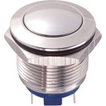 Zip Switch 19mm Vandal Resistant 36V DC 2A Domed Stainless Steel P…