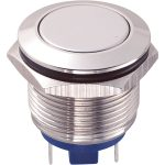 Zip Switch 19mm Vandal Resistant 36V DC 2A Flat Nickel Plated Pin …