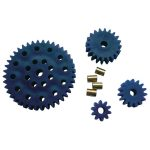 Modelcraft 330109 Plastic Gear Set Blue 4pcs 3.9mm Bore