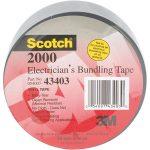 3M FE510086344 Scotch 2000 Electricians Duct Tape 50mm x 46m