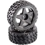 Reely Buggy Wheels 5-Spoke-Rims and Dirt Track Tyres Set of 2