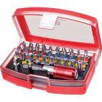 Toolcraft 820873 Bit Set With Colour Coding 6.3mm (1/4″) 32 Piece
