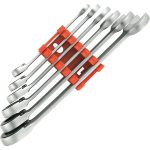Toolcraft 824124 Fork/Ratchet Wrench Set Reversible 8-19mm 6pce