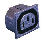 ESKA Bulgin PX0695/10/63 IEC Socket Panel Mount 1mm Snap Fit 250V …