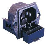 ESKA Bulgin PF0030/63 Socket Panel Mount 2x Fuse Flange 250VAC 10A…