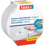 tesa 05255 Glass Fibre Fabric Tape White 50mm x 25m
