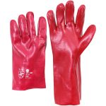 Worky 1481 PVC Red/Brown Glove 35cm Long