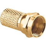 BKL 0403322 Gold-line F-Plug Screw-in 6mm Coax Cable Gold-plated