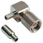 BKL 0415104 Plug 75 Ohm Crimp Angled Teflon for RG 179/187