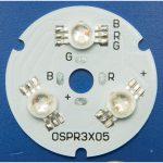 TruOpto OSPR3XT5 3-LED RGB Round Power LED Module