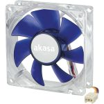 Akasa AK-190-BL Ultra Quiet Fan – 8cm – Emperor Blue