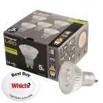 Integral LED Glass GU10 LED Bulb Warm White 4.4W (50W) 2700K 375lm…