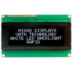 Midas Displays MC42005A12-VNMLW 20×4 VATN LCD Display Negative Mod…