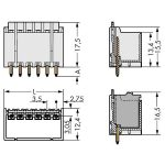 WAGO 2091-1402/200-000 picoMAX 3.5 Male 2P THR Tape Straight Pk200