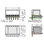 WAGO 2091-1428/200-000 picoMAX 3.5 Male 8P THR Tape Angled Pk100