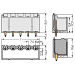 WAGO 2092-3404/200-000 picoMAX 7.5 Male 4P THR Tape Straight Pk100