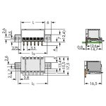 WAGO 2091-1423/205-000 picoMAX 3.5 Male Flanged 3P THR Tape Angle…