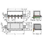 WAGO 2092-3424/205-000 picoMAX 7.5 Male Flanged 4P THR Tape Angle…