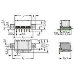 WAGO 2091-1424/205-000 picoMAX 3.5 Male Flanged 4P THR Tape Angle…