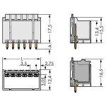 WAGO 2091-1405/200-000 picoMAX 3.5 Male 5P THR Tape Straight Pk200