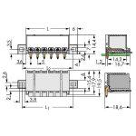 WAGO 2092-1423/205-000 picoMAX 5.0 Male Flanged 3P THR Tape Angle…