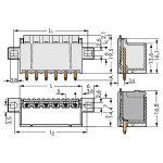 WAGO 2092-1404/205-000 picoMAX 5.0 Male Flanged 4P THR Tape Strai…
