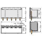 WAGO 2092-3405/200-000 picoMAX 7.5 Male 5P THR Tape Straight Pk100