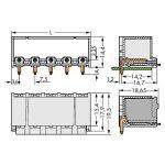 WAGO 2092-3425/200-000 picoMAX 7.5 Male 5P THR Tape Angled Pk100