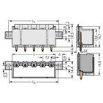 WAGO 2092-3405/205-000 picoMAX 7.5 Male Flanged 5P THR Tape Strai…