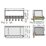 WAGO 2092-1428/200-000 picoMAX 5.0 Male 8P THR Tape Angled Pk100