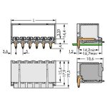 WAGO 2092-1430/200-000 picoMAX 5.0 Male 10P THR Tape Angled Pk100