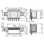 WAGO 2091-1406/205-000 picoMAX 3.5 Male Flanged 6P THR Tape Strai…