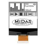 Midas Displays MCCOG128128A6S-FPTLW COG 128×128 FSTN White on Blue…