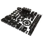 Velleman MP8200SET/SP Set Black Plastic Parts for 25-0000 (K8200)