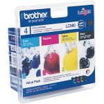 Brother Ink Cartridges Combo Pack Original LC980BK + LC980C + LC98…